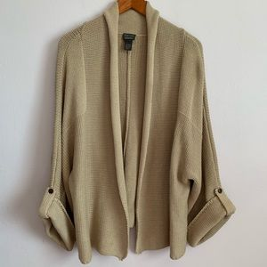 Chico's sweater additions style Sz 3 tan color
